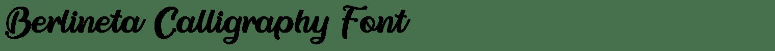 Berlineta Calligraphy Font