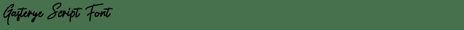 Gasterye Script Font