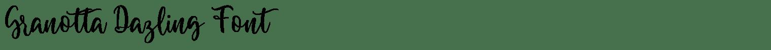 Granotta Dazling Font