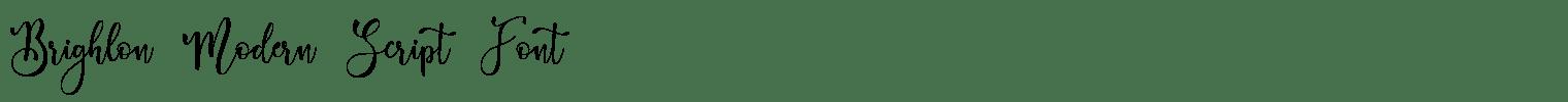 Brighlon Modern Script Font