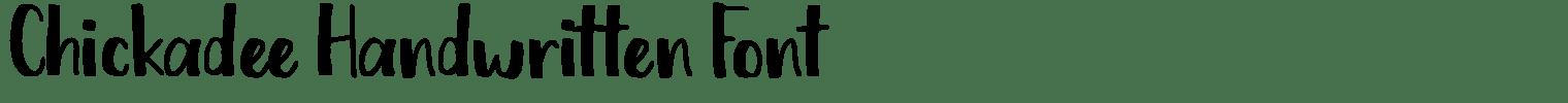 Chickadee Handwritten Font