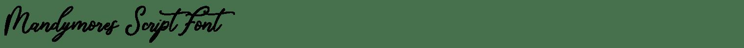 Mandymores Script Font