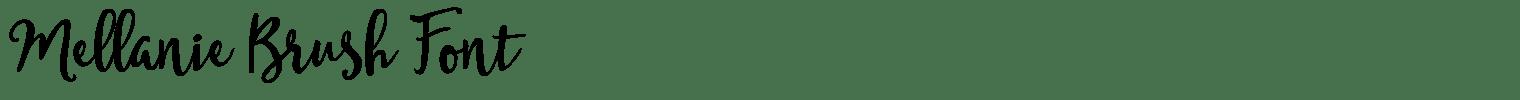 Mellanie Brush Font