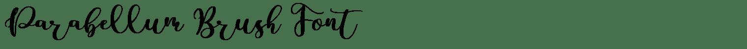 Parabellum Brush Font
