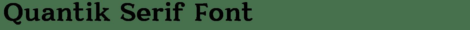 Quantik Serif Font