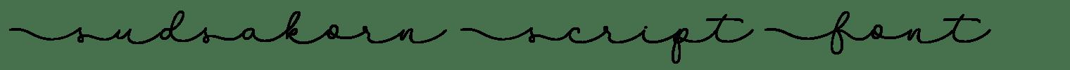 Sudsakorn Script Font