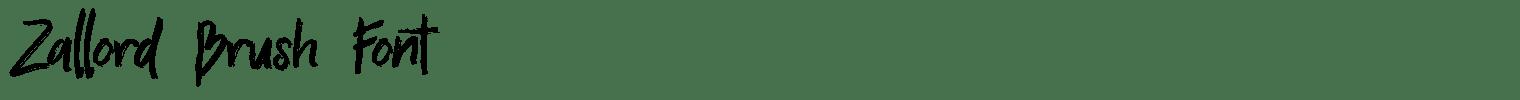 Zallord Brush Font