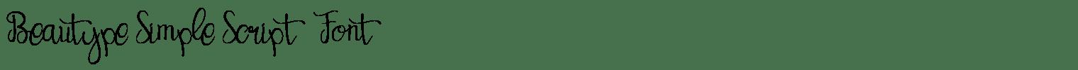 Beautype Simple Script Font