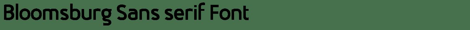 Bloomsburg Sans serif Font