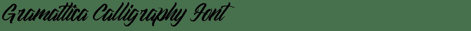 Gramattica Calligraphy Font