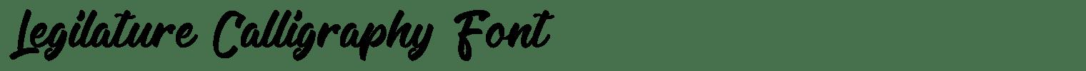 Legilature Calligraphy Font