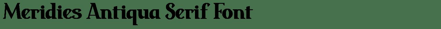 Meridies Antiqua Serif Font