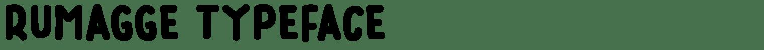 Rumagge Typeface