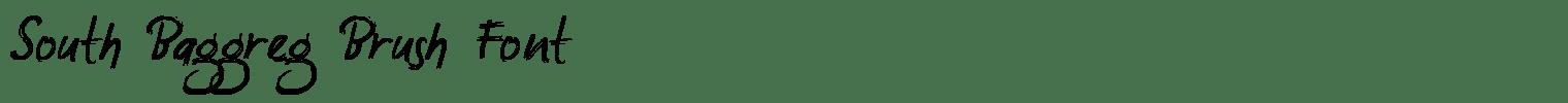 South Baggreg Brush Font