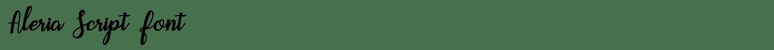 Aleria Script Font