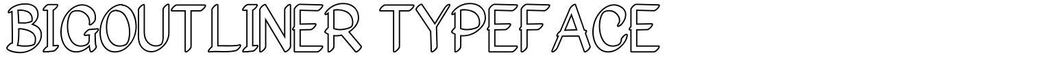 Bigoutliner Typeface