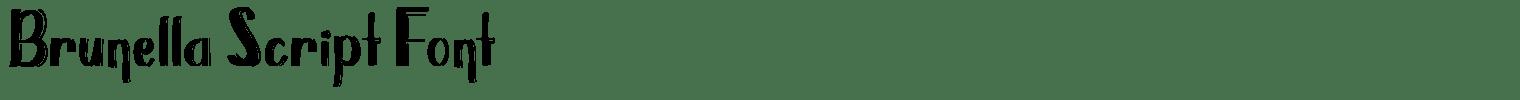 Brunella Script Font