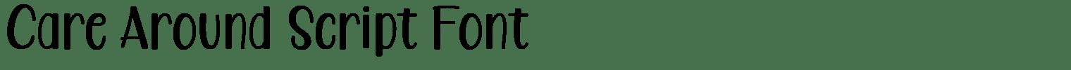 Care Around Script Font