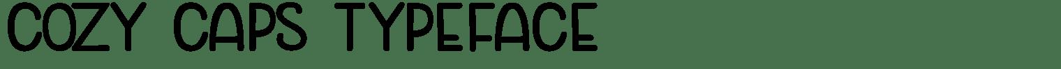 Cozy Caps Typeface