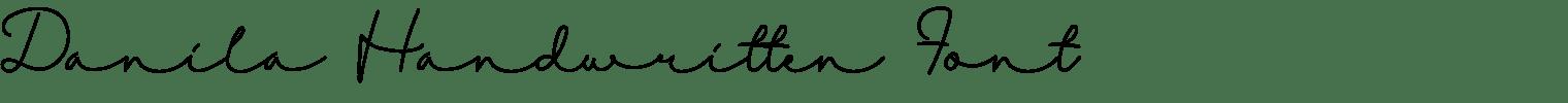 Danila Handwritten Font