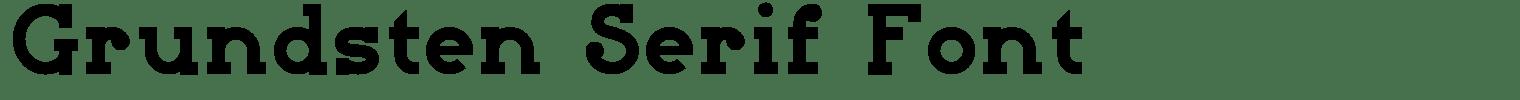 Grundsten Serif Font