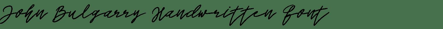 John Bulgarry Handwritten Font