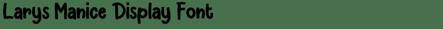 Larys Manice Display Font