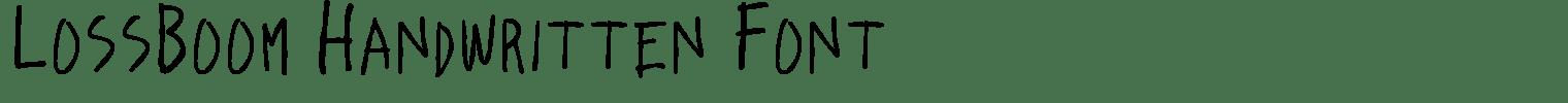 LossBoom Handwritten Font