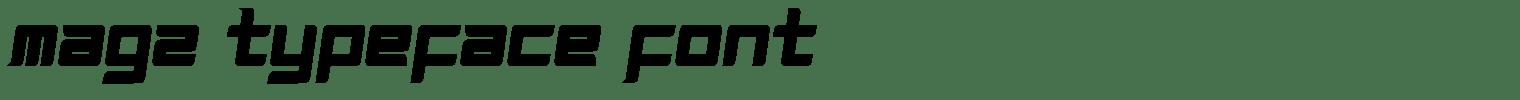 Magz Typeface Font