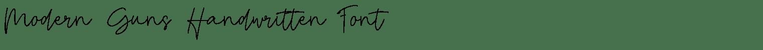 Modern Guns Handwritten Font