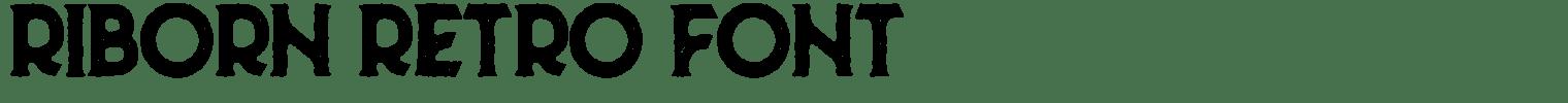 Riborn Retro Font