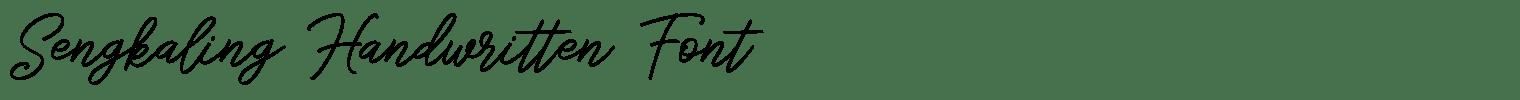 Sengkaling Handwritten Font