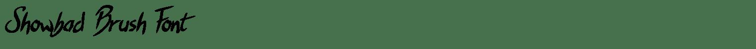 Showbad Brush Font