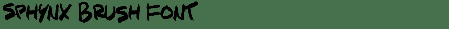 Sphynx Brush Font