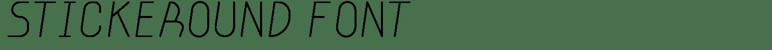 Stickeround Font