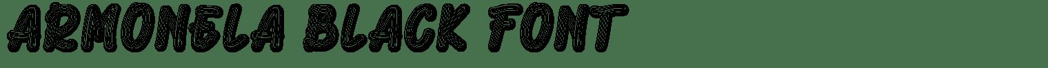Armonela Black Font