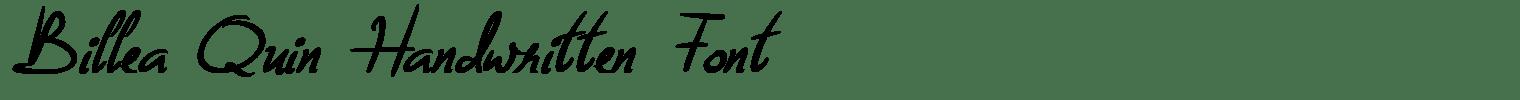 Billea Quin Handwritten Font