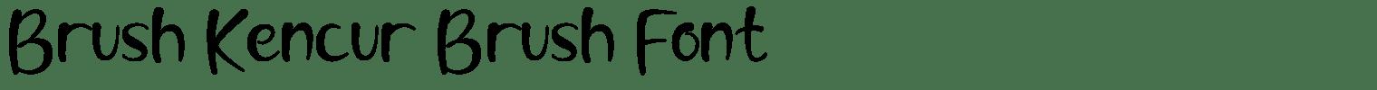 Brush Kencur Brush Font