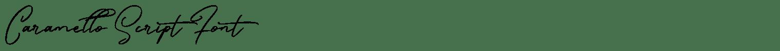 Caramello Script Font