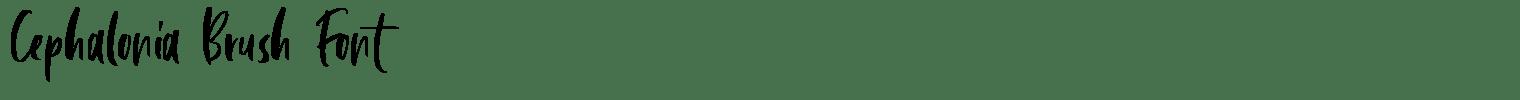Cephalonia Brush Font