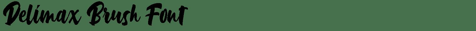 Delimax Brush Font