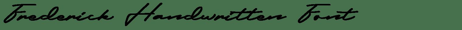 Frederick Handwritten Font