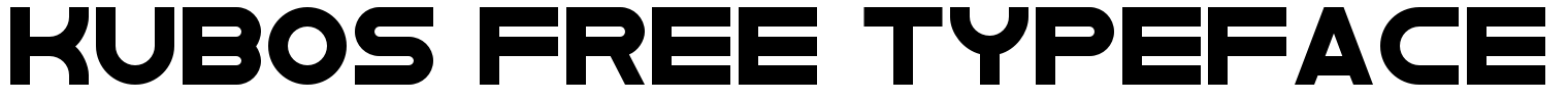 Kubos Free Typeface