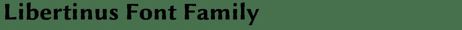 Libertinus Font Family