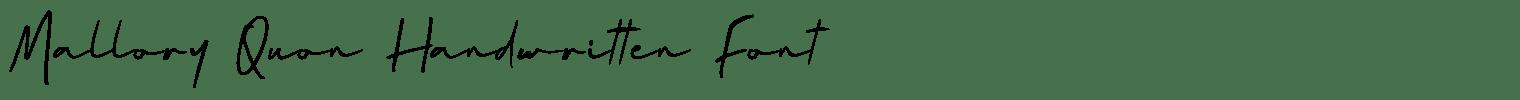 Mallory Quon Handwritten Font