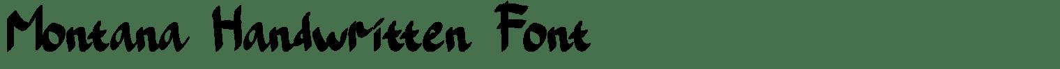 Montana Handwritten Font