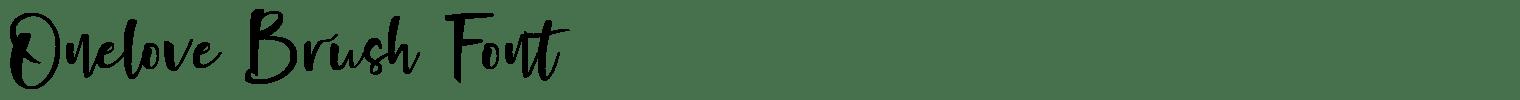 Onelove Brush Font