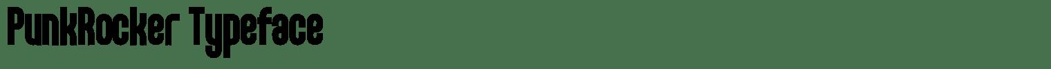 PunkRocker Typeface