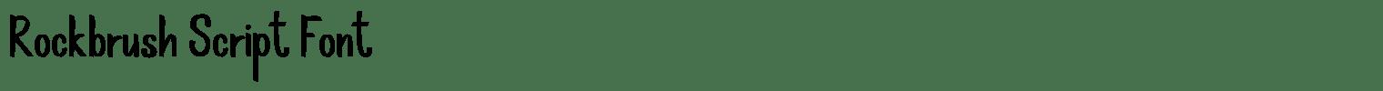 Rockbrush Script Font