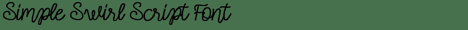 Simple Swirl Script Font